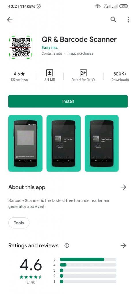 qr barcode scanner 473x1024 - Cara Scan Barcode dan QR Code di HP Android