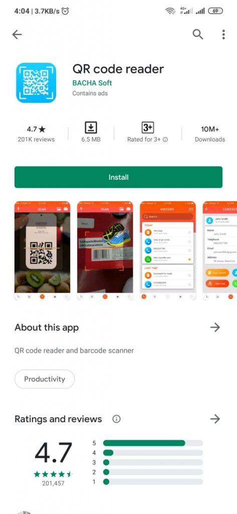 qr code reader 473x1024 - Cara Scan Barcode dan QR Code di HP Android