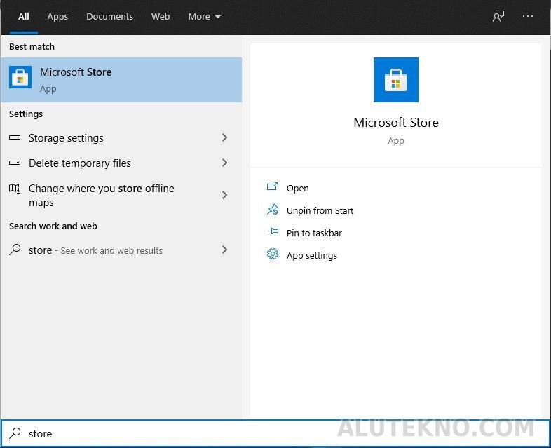 microsoft store - 2 Cara Install Termux di PC Tanpa Emulator