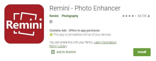 remini photo enhancher - 5 Cara Memperbesar Ukuran File JPG, Foto dan Gambar