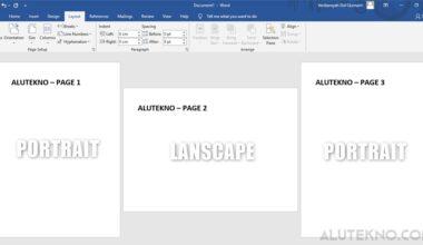 cara membuat landscape pada halaman tertentu di word